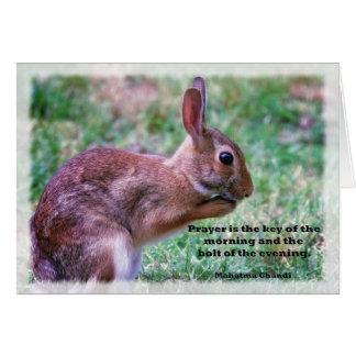 Praying Bunny Greeting Card