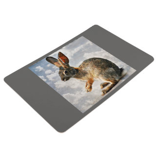 Praying Bunny In the Clouds Custom Floor Mat