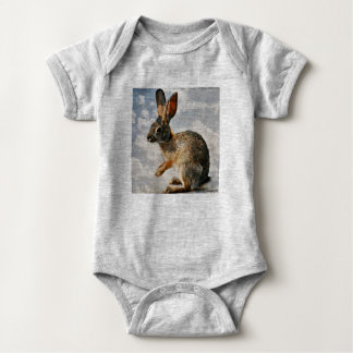 Praying Bunny in the Heavens Baby One Piece Baby Bodysuit