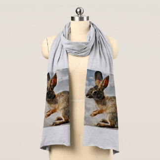 Praying Bunny in the Heavens Jersey Scarf