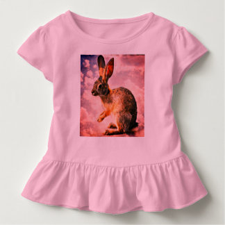 Praying Bunny in the Heavens Toddler Ruffle Tee