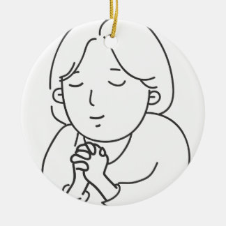 Praying Ceramic Ornament