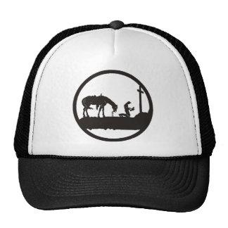 praying cowboy trucker hat