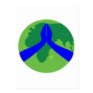 Praying Earth Post Card