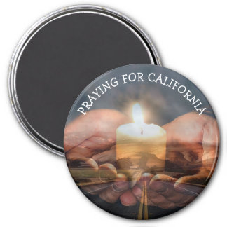 Praying for California Fire Candle magnet