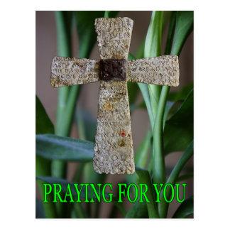 praying for you cross postcard
