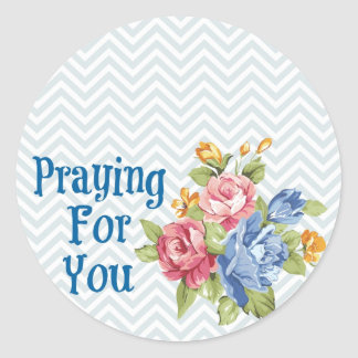 Praying For You Round Sticker