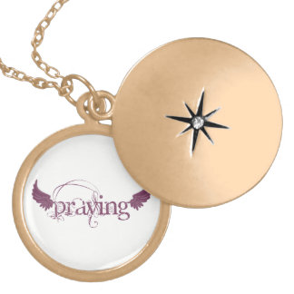 Praying Gold Plated Necklace
