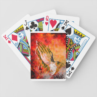 PRAYING HANDS BICYCLE PLAYING CARDS