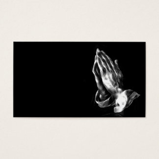 Praying hands business card