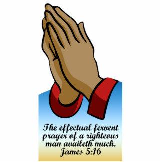 Praying Hands Desk Plaque with Bible Verse Standing Photo Sculpture