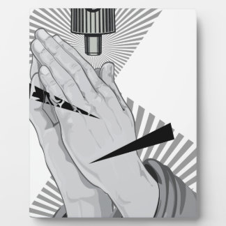 Praying Hands Graffiti Display Plaques