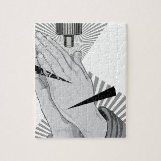 Praying Hands Graffiti Jigsaw Puzzle