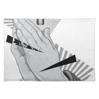 Praying Hands Graffiti Placemat