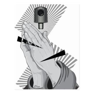 Praying Hands Graffiti Postcard