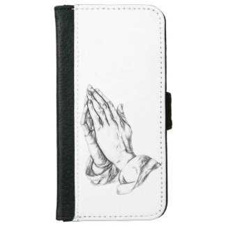Praying hands iPhone 6 wallet case