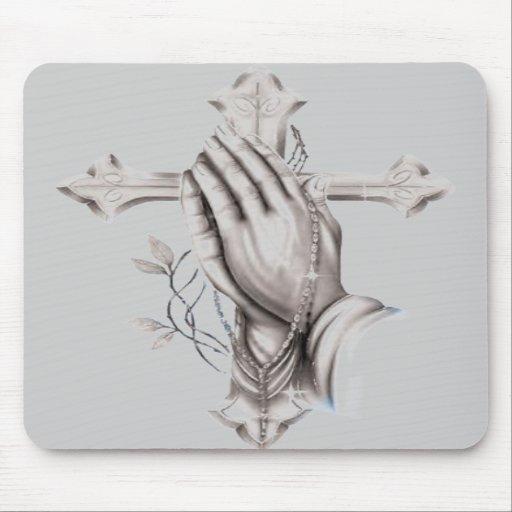Praying hands mouse mats