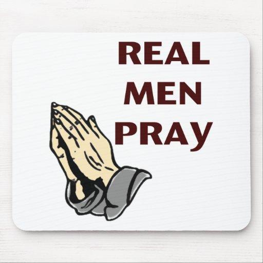 Praying Hands - Real Men Pray Mouse Pad
