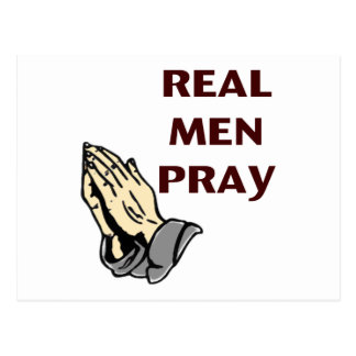 Praying Hands - Real Men Pray Postcard