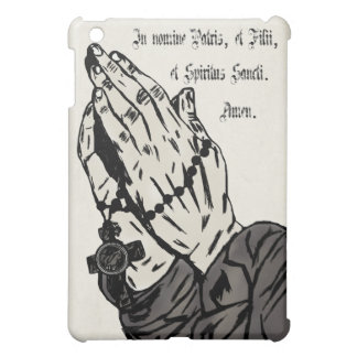 Praying Hands (With Sign of the Cross) iPad Mini Covers