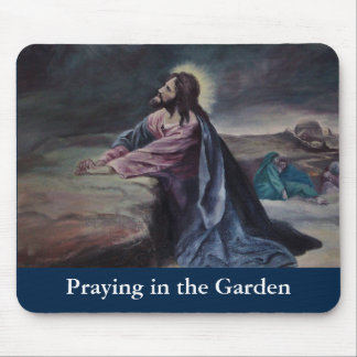 Praying in the Garden Mouse Pad