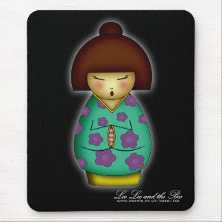 Praying Kokeshi, mousepad Mouse Pad