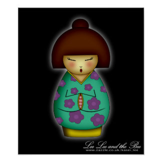 Praying Kokeshi, print
