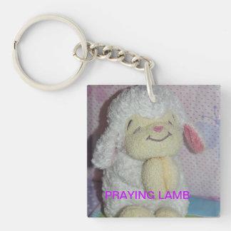 Praying Lamb Keychain