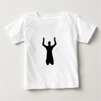 Praying man on the knees baby T-Shirt