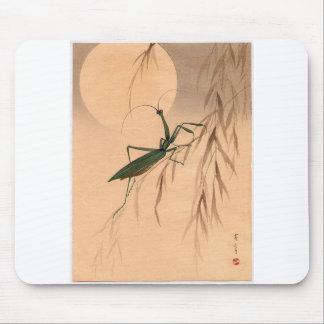 Praying Mantis and the Moon Japanese Art c 1800s Mousepads