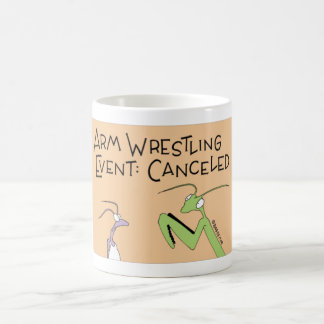 Praying Mantis arm wrestling Coffee Mug