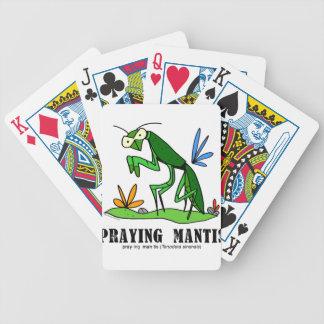 Praying Mantis by Lorenzo Traverso Bicycle Playing Cards