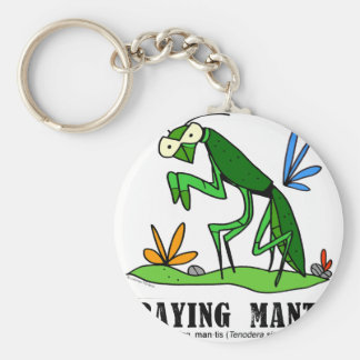 Praying Mantis by Lorenzo Traverso Key Ring