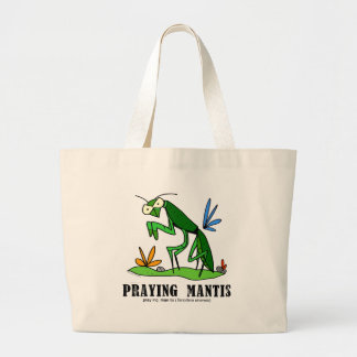 Praying Mantis by Lorenzo Traverso Large Tote Bag