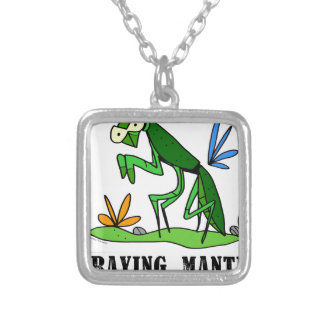 Praying Mantis by Lorenzo Traverso Silver Plated Necklace