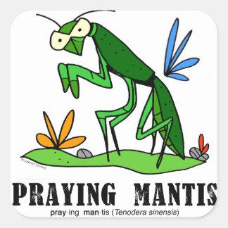 Praying Mantis by Lorenzo Traverso Square Sticker
