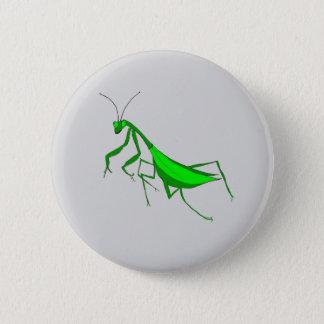 Praying Mantis on Pinback Button