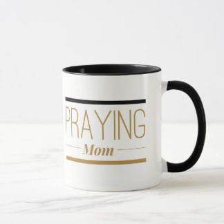 Praying Mom Black Ceramic Coffee Mug