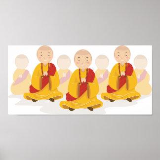 Praying Monks Poster