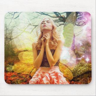 Praying Mystical Spiritual Angel Mouse Pad