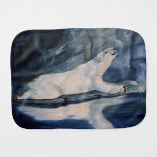 Praying Polar Bear Burp Cloth