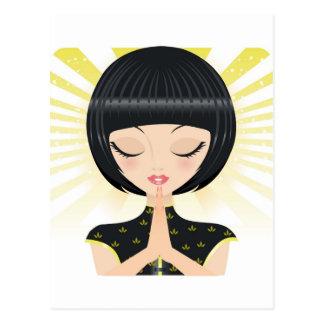 Praying Postcard