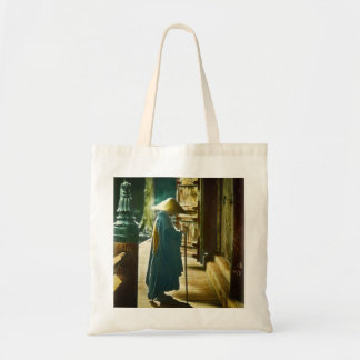 Praying Priest in Old Japan Vintage Magic Lantern Tote Bag