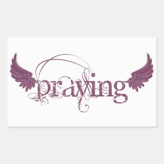Praying Rectangular Sticker