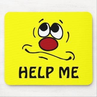 Praying Smiley Face Grumpey Mouse Pad