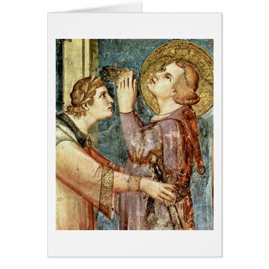 Praying St. Martin By Simone Martini Card