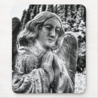 Praying Stone Angel Mouse Pad