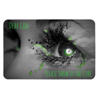 Praying Tears in Eye Lyme Disease Awareness Magnet