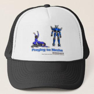 Praying to Mecha Trucker Hat