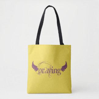 Praying Tote Bag
